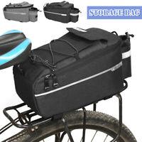 Bicycle Cycling Bike Rear Rack Seat Trunk Saddle Tail Storage Pannier Pouch Bag