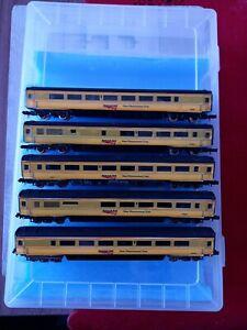 5 X Network Rail MK3 Coaches. Please check description