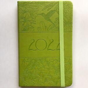 Taschenkalender 2022 Planer Timer Kalender A6, Motiv: Blumen, Vogel, Pflanzen