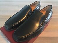 650$ Bally Tenent Black Leather Loafers Size US 10 Made in Switzerland