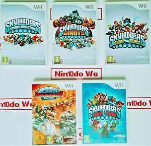 Nintendo Wii Skylanders GAME ONLY *Multi-Listing* -Spyros/Giants/Trap Team/Swap