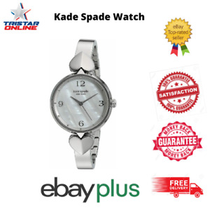 Kate Spade Watches KSW1562 Women's Hollis Silver Stainless Steel Mother Of Pearl