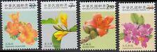 TAIWAN CHINA 4 V SET ORCHID FLOWER RARE VALUE DELETED SPECIMEN