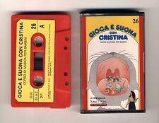 GIOCA E SUONA CON CRISTINA D'AVENA Musicassetta 26 OTTIMO Mc Audiocassetta 1989