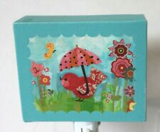 Oopsy Daisy Winbord Unbrella Birdies on Canvas Night Light