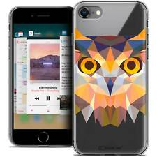 "Coque Housse Etui Pour iPhone 8 (4.7"") Polygon Animal Souple Fin Hibou"