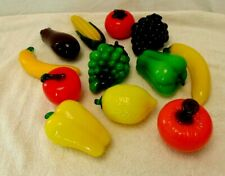 12 Piece Murano style glass fruit and vegetable decoration.