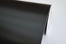 Fibre De Carbone Vinyle Wrap Autocollant Voiture [ 3D ] 600mm X 1520mm Noir Taille