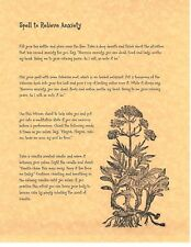 Book of Shadows Spell Pages **Anxiety Relief Spell ** Wicca Witchcraft BOS