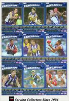 2006 AFL Teamcoach Tradinging Card Blue Foil Platinum Team Set Nth Melbourne (9)