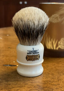 Simpsons Chubby CH2 Best Badger Shaving Brush NEW (No Box) FREE SHIPPING