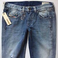 BNWT Ladies Diesel DOOZY Bootleg Pretty Stitched Jeans W27 L36 UK Size 8 [605)