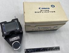 Canon Fl Mount Slide Duplicator in Box -Read-
