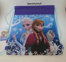 "NEW DISNEY FROZEN NON WOVEN SLING BAG 14x11"" PRINCESS ELSA ANNA todler backpack"