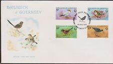 GB - GUERNSEY 1978 The  Birds Themselves SG 169-172 FDC GANNET WARBLER FIRECREST
