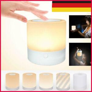 LED Nachttischlampe Touch-Sensor-Steuerung Leseleuchte Dimmbar Night Lamp