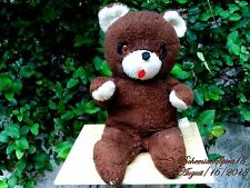 ANTIQUE VINTAGE KNICKERBOCKER BROWN HAZEL EYES 18'' TEDDY BEAR