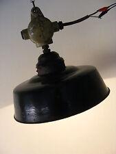 Schöne alte Emaillelampe, Art Deco Hängelampe Bar Küche Industriedesign