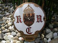 KAC - KAISERLICHER AUTOMOBILCLUB 1905 - 1918 Plakette Kühler Auto Car Badge