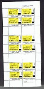 GB railways Welshpooland Llanfair 15p opt sheet of12 UHM