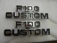 New Repro. Ford 1977 1978 1979 F100 Custom Truck Pickup Emblems Ornaments Trim