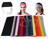 HEADBAND Wide Stretch Sports Yoga Gym Black Hair Band Wrap Sweatband Womens Mens