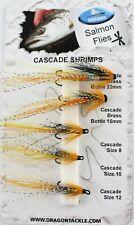 Dragon, Cascade Shrimps, Mustad Double Fly Hooks, Salmon Sea Trout Fishing Flies