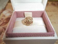 Genuine Authentic Pandora 14ct Gold Amazing Charm with Swirl Designs - 750464