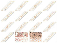 9ft Rose Gold Sparkling Fizz Metallic Birthday BANNER Party Bunting Garland Prop