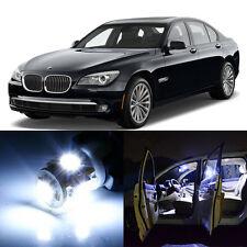 15×White LED Interior SMD Light Kit Error Free for BMW 7 Series F01 F02 09-11