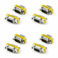 4P 15Pin VGA SVGA Gender Changer Adaptor Connector Coupler M/F Male to Female