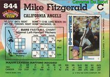 844  MIKE FITZGERALD  CALIFORNIA ANGELS TOPPS BASEBALL CARD STADIUM CLUB 1992