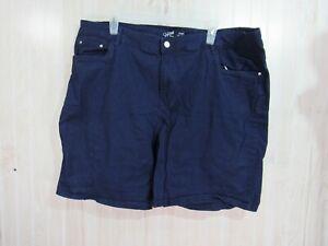 Jaclyn Smith Angel Short Size 2X Blue Flat Front Button Zipper Pockets Casual