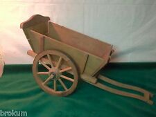 Toy Wood Wagon Cart with Spoked Wood Wheels ~Germany