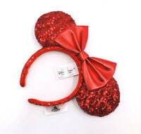 Redd Pirate Disney Parks 2020 Minnie Ears Disney Resort Red Sequin Bow Headband
