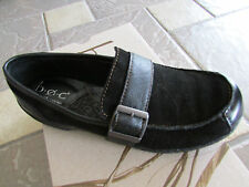 NEW BORN B.O.C JAMIE BLACK SUEDE SLIP ON LOAFER SHOES WOMENS 6 FREE SHIP