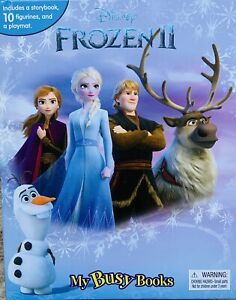 Disney Frozen 2 Busy Book Story 10 Figurines, A Storybook and A PlayMat - New