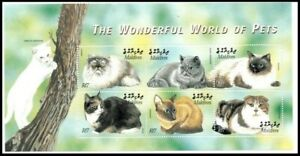 Maldives 2002 MNH SS, Cats, Pets, Domestic Animals, Pets