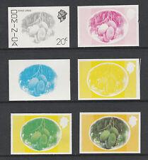 Dominica 3301 - 1975  MANGO LONGUE 20c set of PROGRESSIVE PROOFS u/m