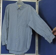 EUC Classic BANANA REPUBLIC Blue & White SHIRT Long Sleeves Sz M 100% Cotton