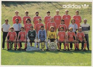 MANNSCHAFTSKARTE FC Bayern München 1986-87 COMMODORE DFB 80er JAHRE  Adidas