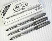 10 pcs UNI-BALL UB-150 0.5mm roller ball pen black ink Waterproof BLACK ink