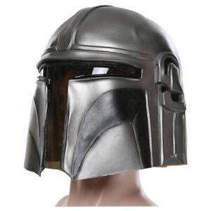 Star Wars The Mandalorian Cosplay Latex Mask Helmet PVC Prop Adult Unisex