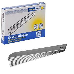 Abbrechklingen 9 mm Cutterklingen 100-3000 Ersatzklingen Cuttermesser ab 0,029 €