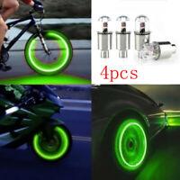 Car Tire Tyre Wheel Dust Stems Air Valves Cap Stem LED Light Cover Accessories L