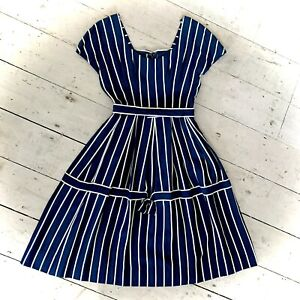 Vintage 1970's Does 1950's Handmade Day Dress Size 8