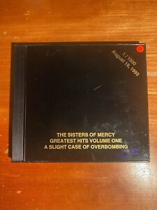THE SISTERS OF MERCY - Greatest Hits Volume One with Andrew Eldritch autograph!!