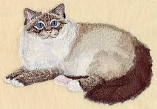 Embroidered Long-Sleeved T-Shirt - Birman Cat C7931