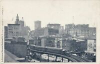 NEW YORK CITY - Curve On Elevated Railroad showing Train - udb (pre 1908)