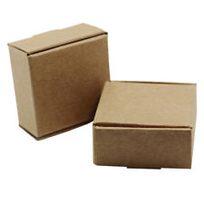 Brown & White Kraft Paper Box For Pack Wedding Gift Toy Party Favor Soap Jewelry